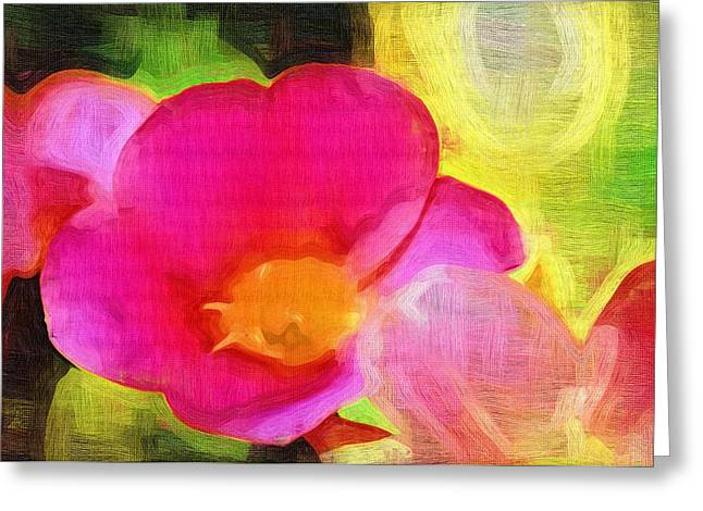 Printables Greeting Cards - Abstract Painting Of Flowers Greeting Card by Victor Gladkiy