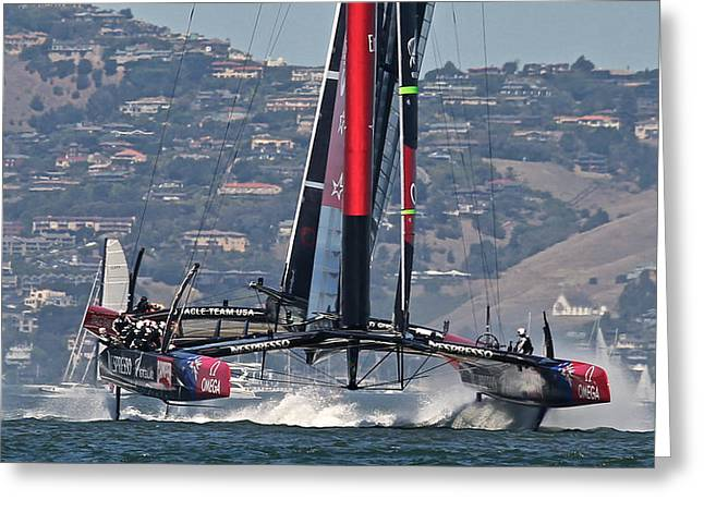 Ultimate Luxury Greeting Cards - Americas Cup 34 Greeting Card by Steven Lapkin