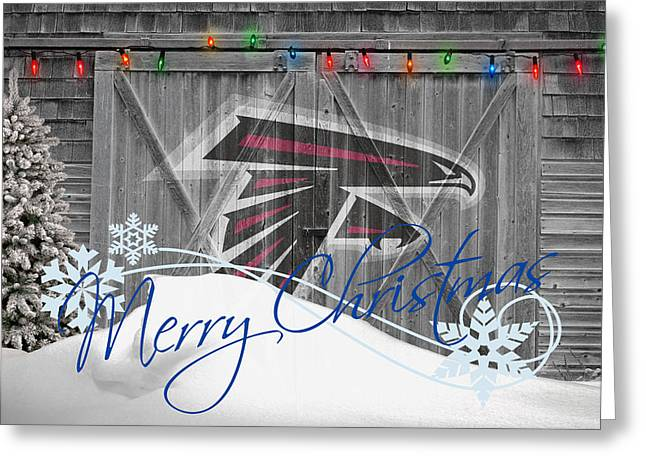 Falcons Greeting Cards - Atlanta Falcons Greeting Card by Joe Hamilton