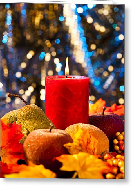 Autumn Candles Greeting Card by Ulrich Schade