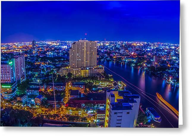 Royal Art Greeting Cards - Bangkok city Greeting Card by Anek Suwannaphoom