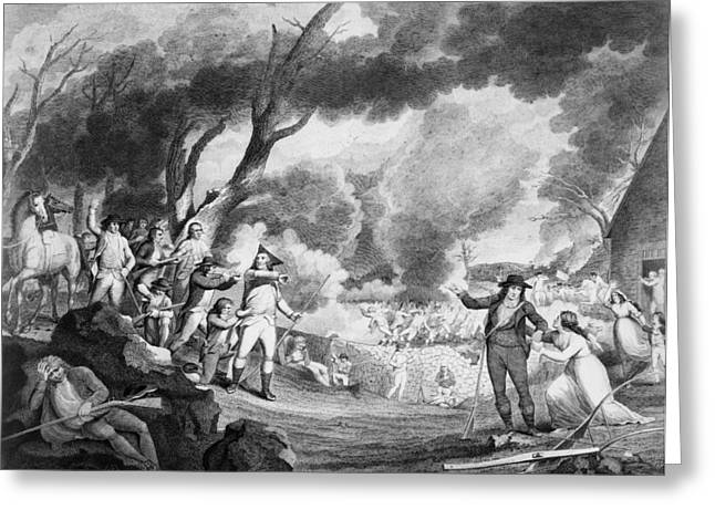 Tiebout Greeting Cards - Battle Of Lexington, 1775 Greeting Card by Granger