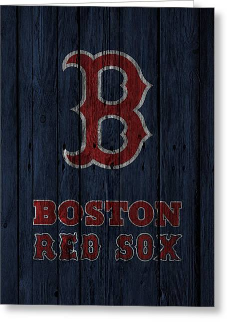Red Doors Greeting Cards - Boston Red Sox Greeting Card by Joe Hamilton