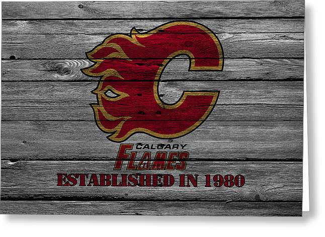 Barn Greeting Card Greeting Cards - Calgary Flames Greeting Card by Joe Hamilton