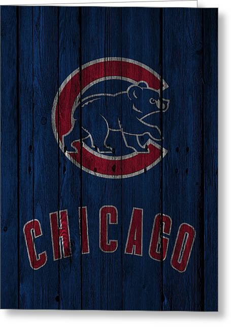 Barn Door Greeting Cards - Chicago Cubs Greeting Card by Joe Hamilton