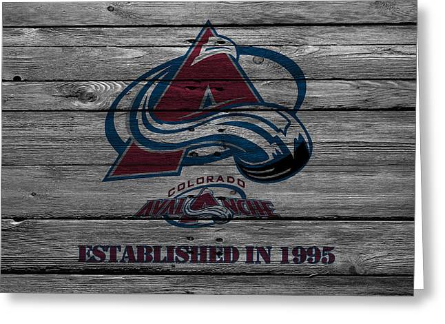 Playoff Greeting Cards - Colorado Avalanche Greeting Card by Joe Hamilton