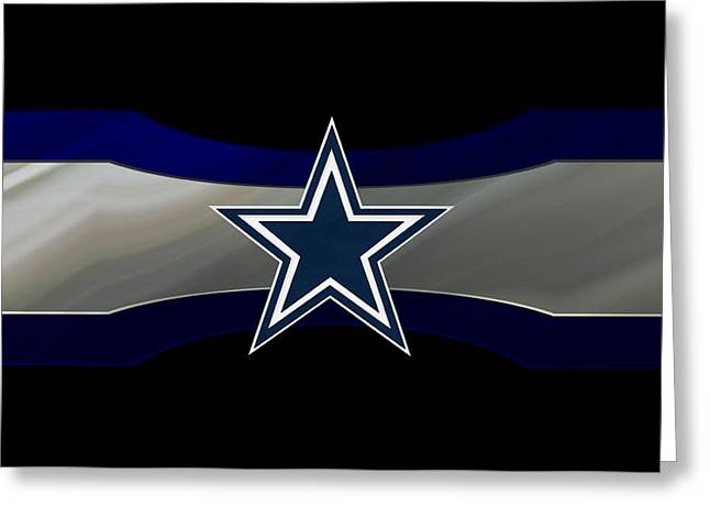 Snow Greeting Cards Greeting Cards - Dallas Cowboys Greeting Card by Joe Hamilton