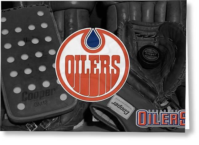 Edmonton Greeting Cards - Edmonton Oilers Greeting Card by Joe Hamilton