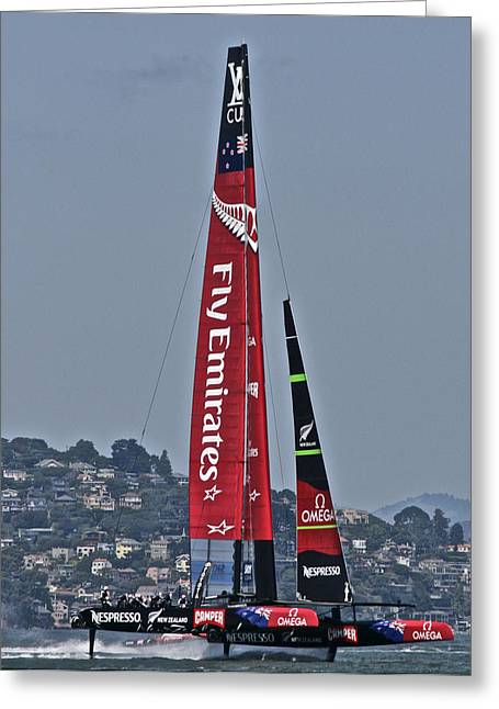 Sausalito Greeting Cards - Emirates Team New Zealand Greeting Card by Steven Lapkin