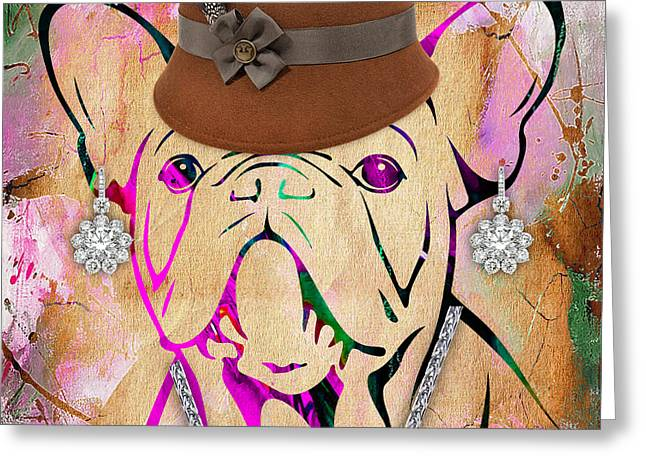 Portrait Greeting Cards - French Bulldog Collection Greeting Card by Marvin Blaine