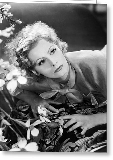 Greta Greeting Cards - Greta Garbo Greeting Card by Silver Screen