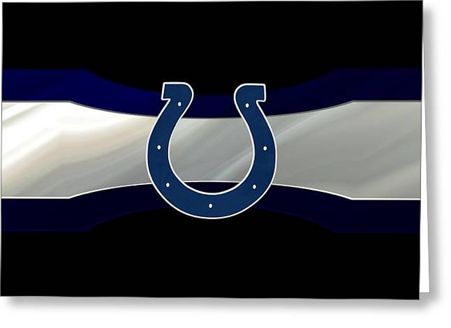 Offense Greeting Cards - Indianapolis Colts Greeting Card by Joe Hamilton