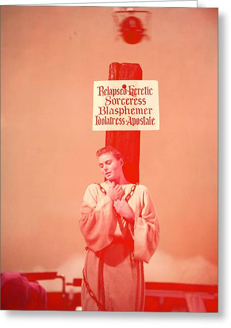 Ingrid Greeting Cards - Ingrid Bergman Greeting Card by Silver Screen