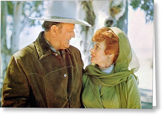 Maureen Photographs Greeting Cards - John Wayne Greeting Card by Silver Screen