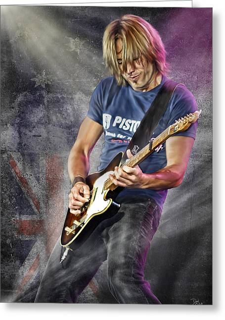 Franklin Tennessee Greeting Cards - Keith Urban Greeting Card by Don Olea