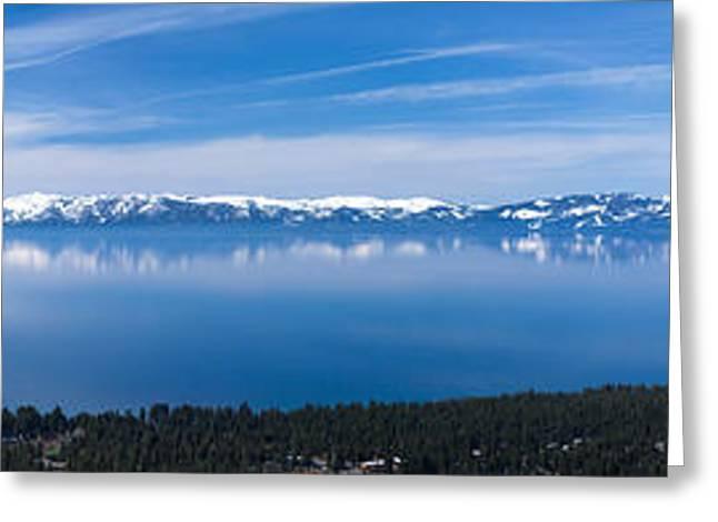 Snow Tree Prints Greeting Cards - Lake Tahoe Greeting Card by Mariusz Blach
