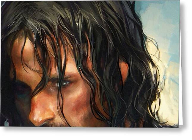 Lord Of The Rings Greeting Cards - Lord Of The Rings Movie Greeting Card by Victor Gladkiy