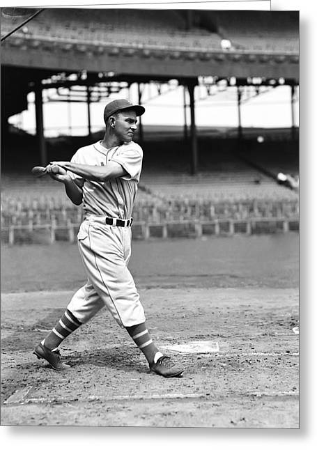 Baseball Bat Greeting Cards - Melvin T. Mel Ott Greeting Card by Retro Images Archive