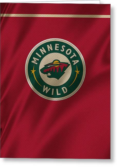 Skates Greeting Cards - Minnesota Wild Greeting Card by Joe Hamilton