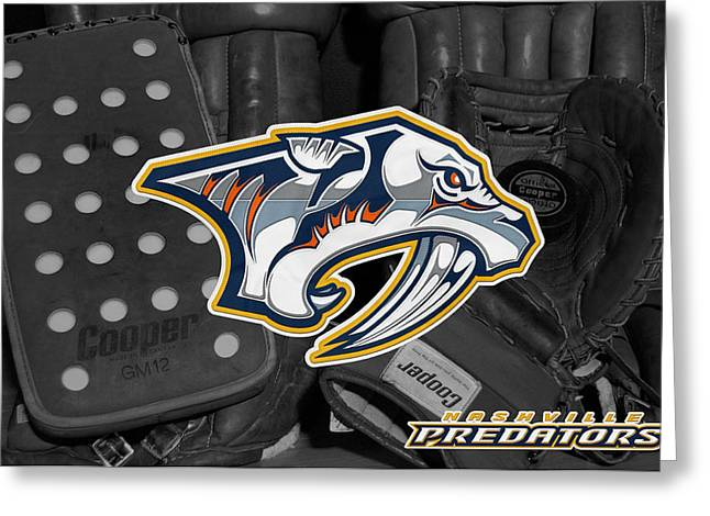 Predators Photographs Greeting Cards - Nashville Predators Greeting Card by Joe Hamilton