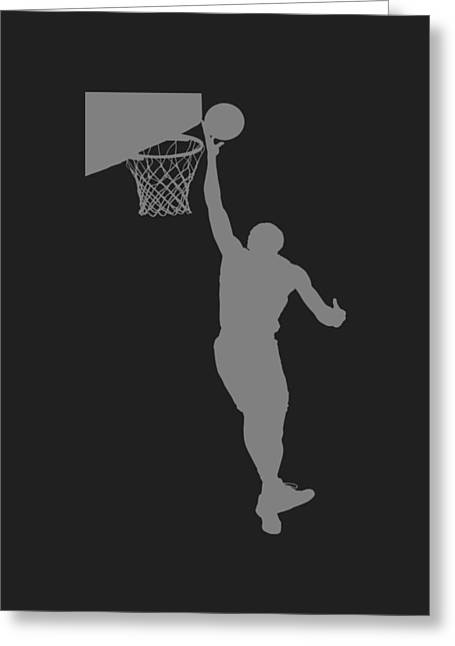 Nba Shadow Player Greeting Card by Joe Hamilton