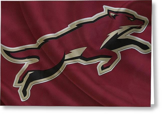 Phoenix Greeting Cards Greeting Cards - Phoenix Coyotes Greeting Card by Joe Hamilton