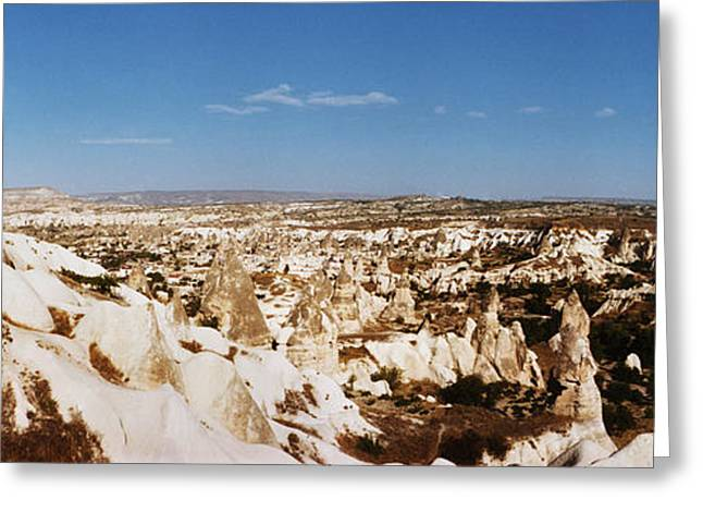 Geology Photographs Greeting Cards - Rock Formations On A Landscape Greeting Card by Panoramic Images