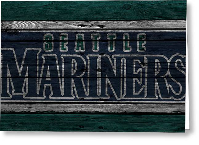 Seattle Mariners Greeting Cards - Seattle Mariners Greeting Card by Joe Hamilton