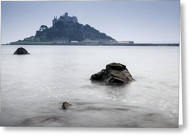 Ocean Vista Greeting Cards - St Michaels Mount Bay Marazion Greeting Card by Matthew Gibson