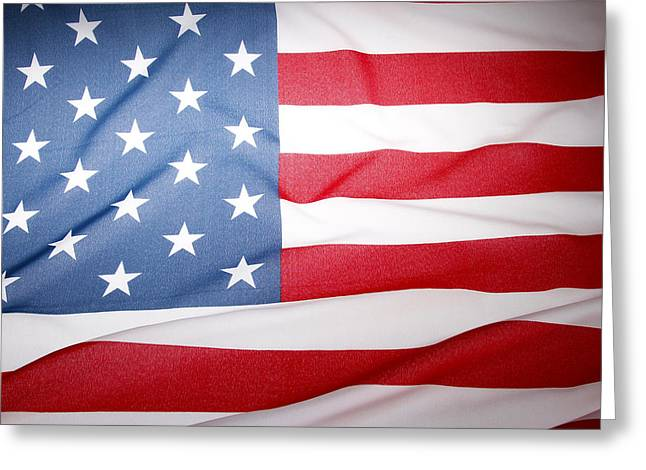 American Pride Greeting Cards - USA flag Greeting Card by Les Cunliffe