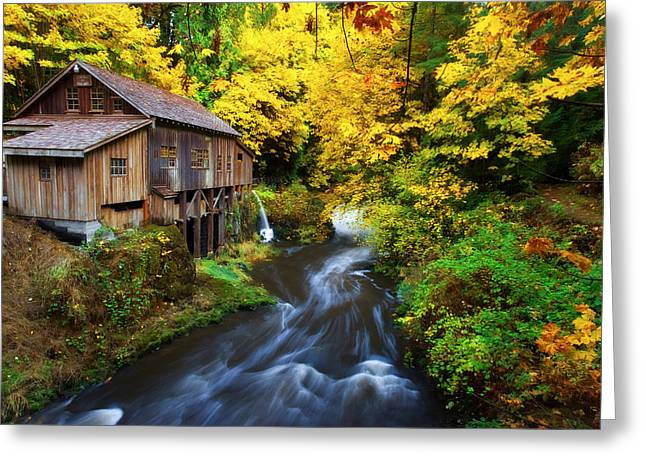 Grist Mill Greeting Cards - 1600 Greeting Card by Darren  White