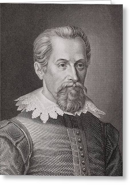 1620 Johannes Kepler Astronomer Portrait Greeting Card by Paul D Stewart