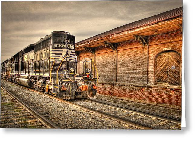 Csx Greeting Cards - Locomotive 1637 Norfork Southern Greeting Card by Reid Callaway