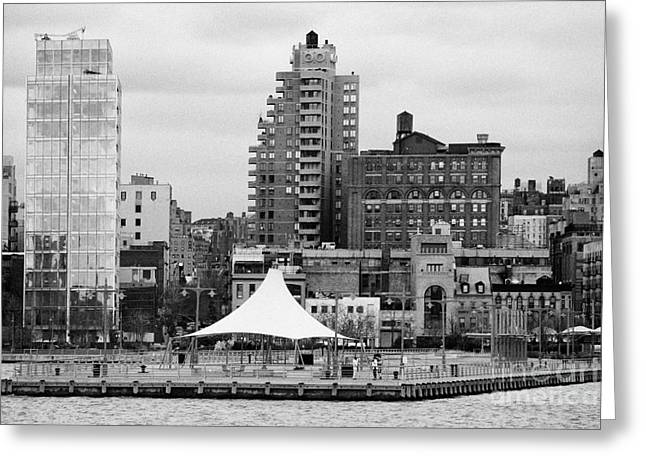 165 Charles Street Pier 45 Hudson River Park New York City  Greeting Card by Joe Fox