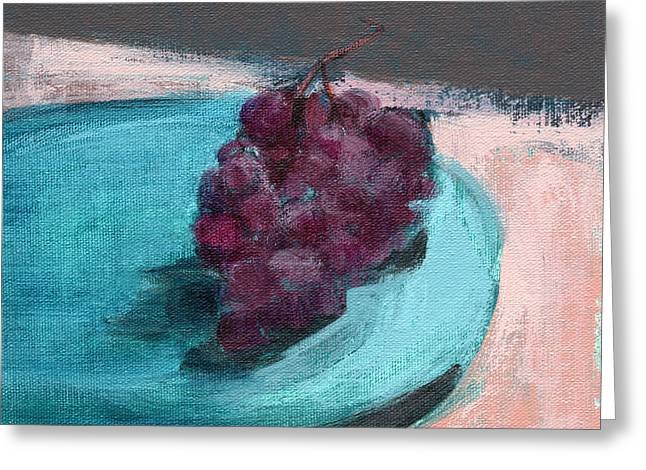 Blue Grapes Greeting Cards - RCNpaintings.com Greeting Card by Chris N Rohrbach