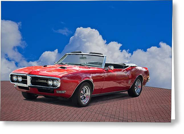 American Automobiles Greeting Cards - 1668 Pontiac Firebird Convertible Greeting Card by Dave Koontz