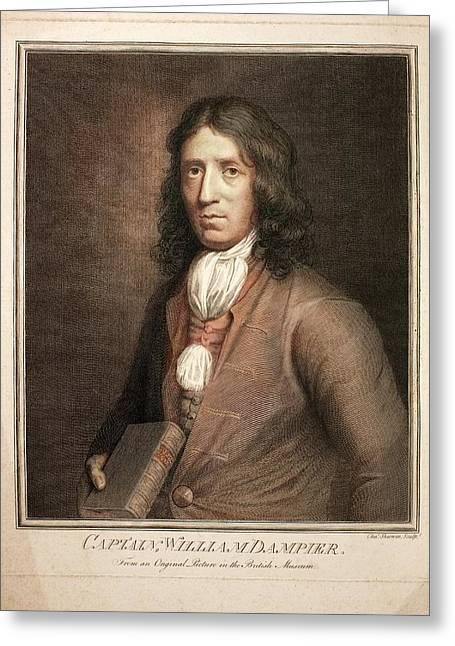 1689 William Dampier Pirate Of Genius Greeting Card by Paul D Stewart