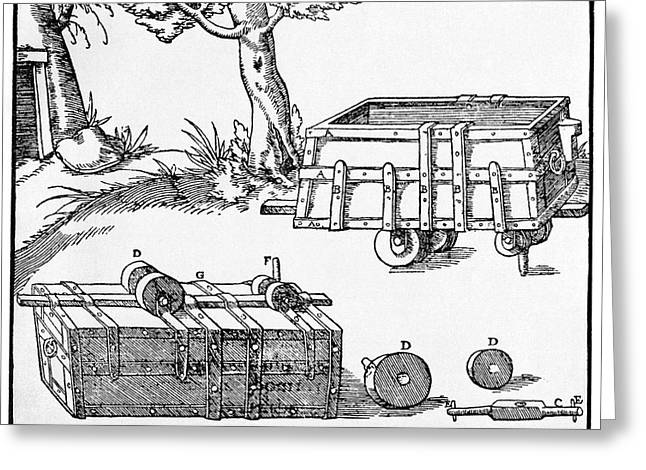 16th Century Mine Cart Greeting Card by Cci Archives
