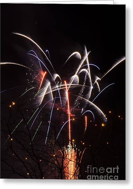 16th Street Mall Greeting Cards - 16th St. Fireworks  Greeting Card by James La Mere