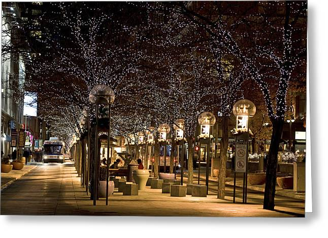 16th Street Mall - Denver Greeting Card by Patrick Derickson