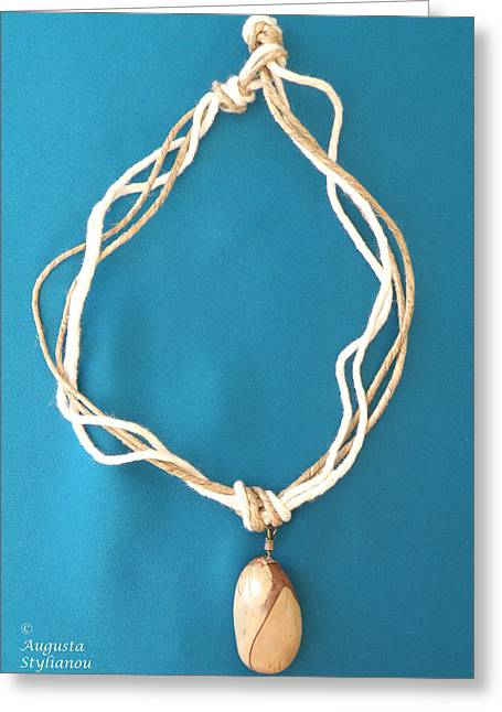 Hand Made Greeting Cards - Aphrodite Urania Necklace Greeting Card by Augusta Stylianou