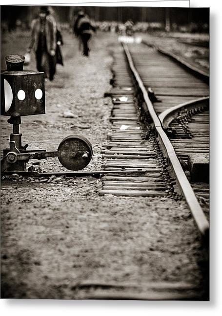 History Greeting Cards - Auschwitz Greeting Card by Mihai Ilie
