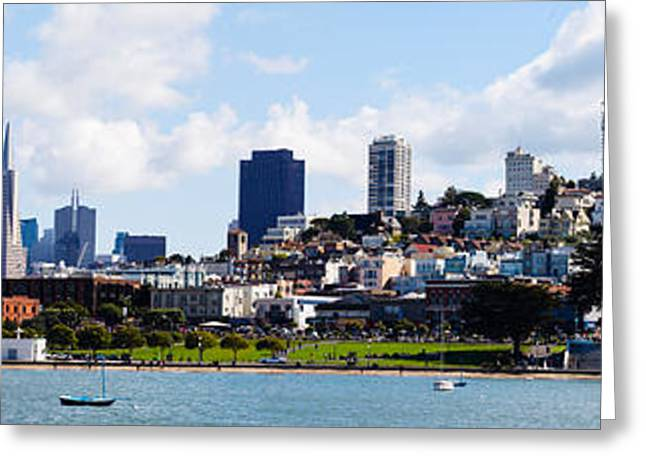 Sailboat Images Greeting Cards - Buildings At The Waterfront Greeting Card by Panoramic Images