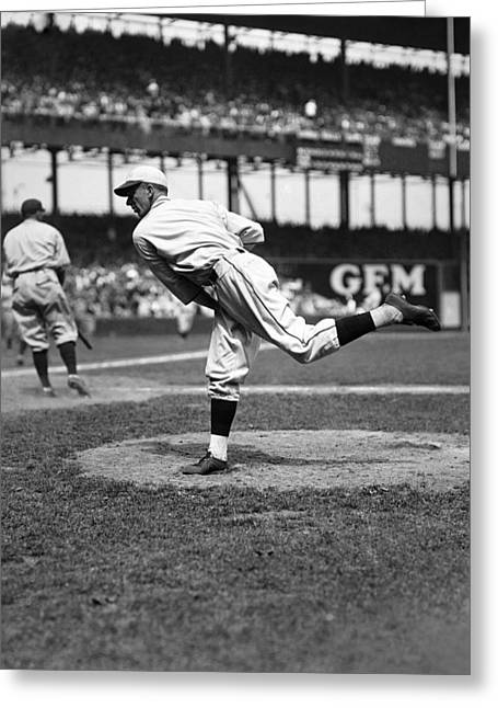Polo Grounds Greeting Cards - Carl O. Hubbell Greeting Card by Retro Images Archive