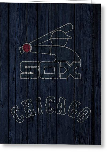 White Barns Greeting Cards - Chicago White Sox Greeting Card by Joe Hamilton