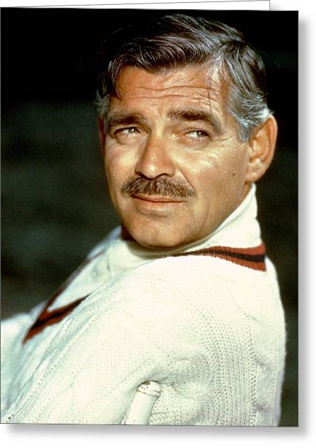 Gables Greeting Cards - Clark Gable Greeting Card by Silver Screen