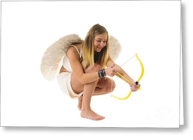 Determination Photographs Greeting Cards - Cupid the god of desire Greeting Card by Ilan Rosen