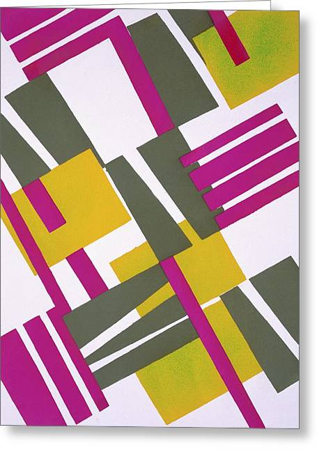 Geometrical Art Drawings Greeting Cards - Design from Nouvelles Compositions Decoratives Greeting Card by Serge Gladky