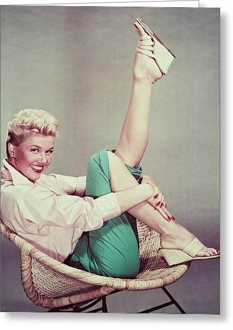 Doris Greeting Cards - Doris Day Greeting Card by Silver Screen