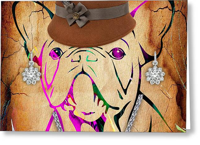 Pet Portraits Greeting Cards - French Bulldog Collection Greeting Card by Marvin Blaine
